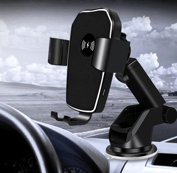 Для iPhone Х 8 плюс автомобиля Qi беспроводной быстрое зарядное устройство Держатель телефона сброса воздуха автомобиля стиль беспроводной зарядки Pad Для Samsung С7 С8 края плюс Примечание 8