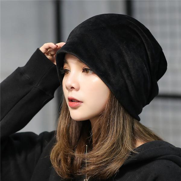 Berretti da donna autunno e inverno Berretti peluche colore impilabile Berretto popolare peluche cappello moda popolare Simplicity95cmf1