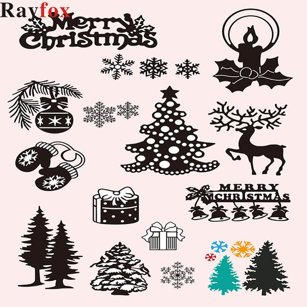 Christmas Decoration For Home DIY Bell Card Stencil Metal Craft ornaments Steel Xmas Tree Decor 2019 Kids Gift Merry Christmas