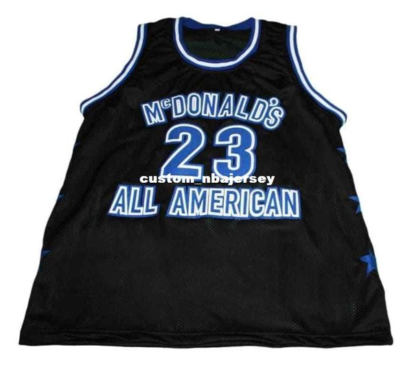 wholesale Michael #23 McDonald's All American Basketball Jersey Black Stitched Custom any number name MEN WOMEN YOUTH BASKETBALL JERSEYS