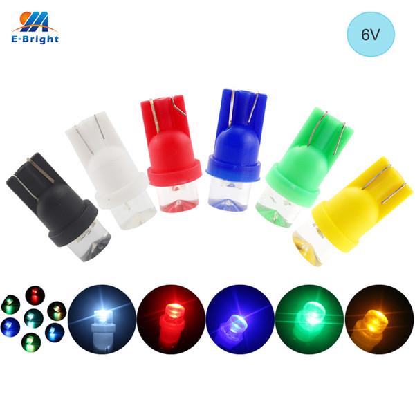 YM E-Bright 6V 6.3V 10X T10 194 168 lentille concave ampoules LED avec feux de porte de voiture de coin blanc, rouge, vert, orange, RVB