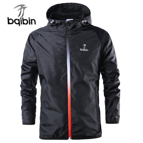 2019 New Spring Summer Mens Fashion Outerwear Windbreaker Men' S Thin Jackets Hooded Casual Sporting Coat Big Size C19041901