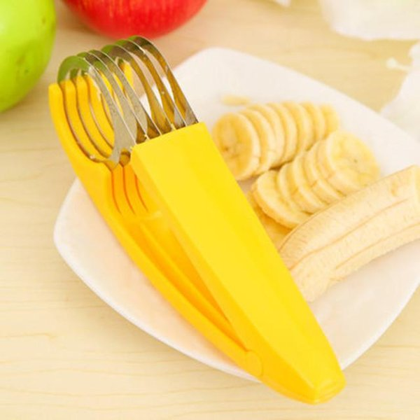 New Kitchen Stainless Steel Chopper Tool Vegetable Peeler Salad Slicer Banana Slicer Chopper Fruit Cutter Cucumber Knife DHL free shipping
