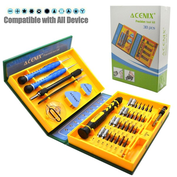 3 Colors Professional Flexible 38 in1 Precision Screwdriver Set Car Mobile Phone PC Tablet Repair Kit Tools DHL Free shipping