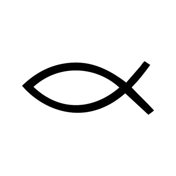 Car Sticker Church Fish Symbol Jesus Fish Faith Sticker Vinyl Car Packaging Accessories Product Decal Decoration