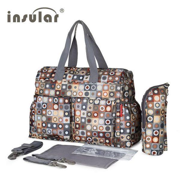 Insular Brand Nappy Bags Diaper Mother Shoulder Fashion Maternity Mummy Handbag Waterproof Baby Stroller Bag Q190530