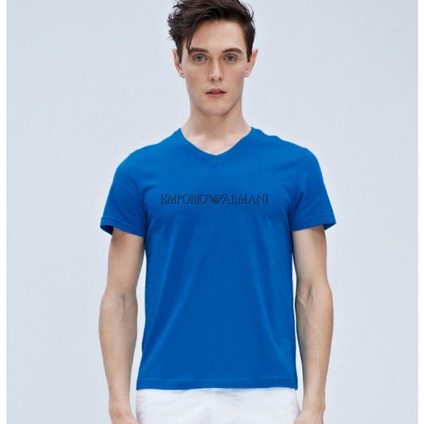 2019 verano francés París diseñador para hombre camisetas estampado en caliente impresión de moda de lujo marca camisetas top manga corta