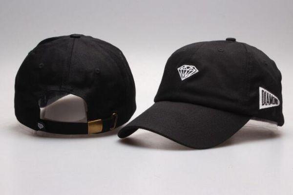 Classic 9 Styles Diamond Schirmmütze rot / schwarz / himmelblau weißer Rand bunte Hysteresenkappe Sonnengolf Baseballmütze Verstellbarer Hut