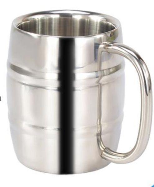 550 мл Edelstahl Bier Tasse Becher Outdoor Camping Westlichen Tee Kaffee Tasse Mit Griff Isolierte Tragbare Wasser Tasse напиток