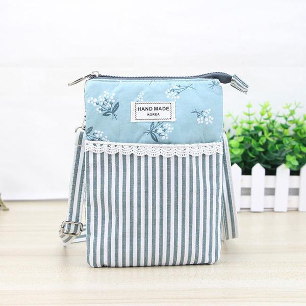 High Quality Female Girls Cotton Messenger Bag Flower Lace Phone Bags Handbags Women Vintage Floral Mini Shoulder Bag Popular Fa