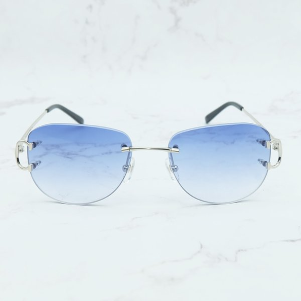 Oval Silver Blue.