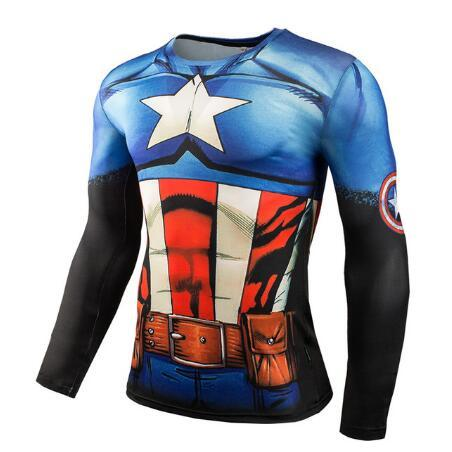 Hot Sale Fitness MMA Compression Shirt Men Anime Bodybuilding Long Sleeve Crossfit 3D Males Punisher T Shirt Tops Tees
