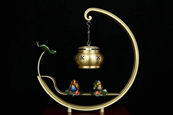 Classic creativo ottone palissandro incenso bruciatore Bluetooth lettore musicale aromaterapia artigianato doni di visualizzazione home office lino confezione regalo