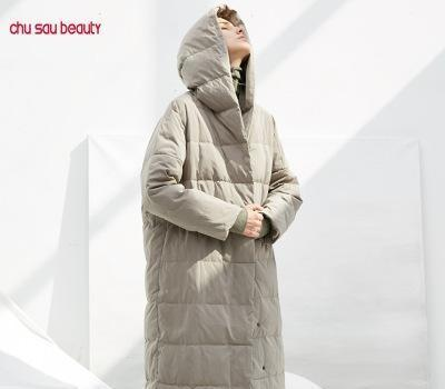 Womens Designer Down Coat Casual Windproof Long Jackets Fashion Womens Winter Solid Color Clothe 2 Colors 2019 New for Wholesale Top Quality