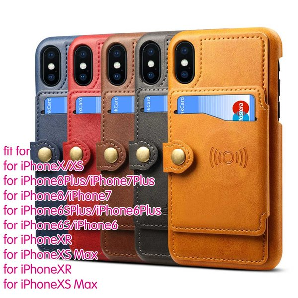 (A453X_B2) Leather Wallet Card Magnetic Case Cover For Various SmartPhones For iPhone 6 7 8 Plus X XR XS MAX