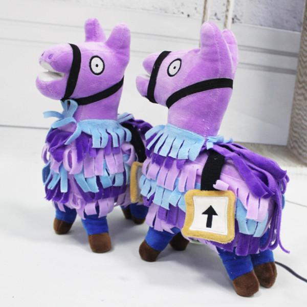Крепость Ночные Troll Stash Llama игрушки Мягкие плюшевые куклы Fortnight альпака Мягкие игрушки для детей Рождество Подарок на день рождения
