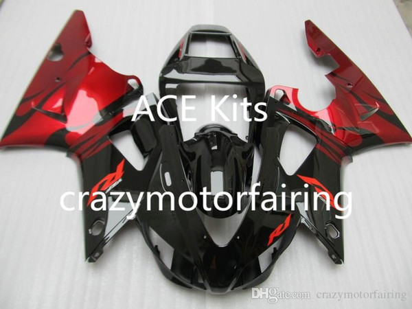 3Gifts New Hot sales bike Fairings Kits For YAMAHA YZF-R1 1998 1999 r1 98 99 YZF1000 Black red FI3