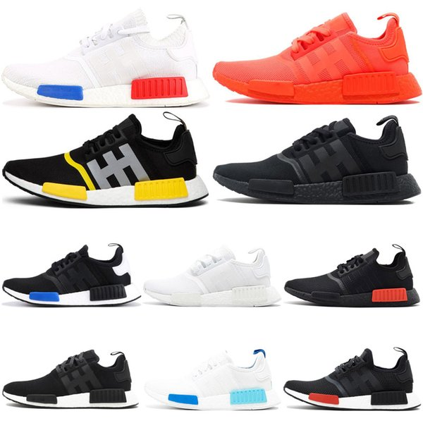 huge discount 6f3cc 560a7 2019 UltraBoostNMD R1 Running Shoes For Women Men OG Atmos Japan Solar Red  Triple White Black Mens Trainer Sports Sneaker 36 45 Cheap From ...