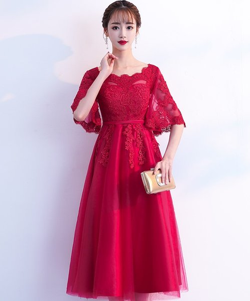 Pregnant women toast bride 2019 new spring and autumn red mid-long pregnancy cover belly wedding dress skirt beautiful.