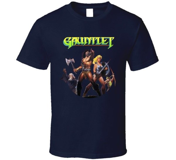 Gauntlet Nes Box Art Video Game T Shirt Funny free shipping Unisex Casual Tshirt top