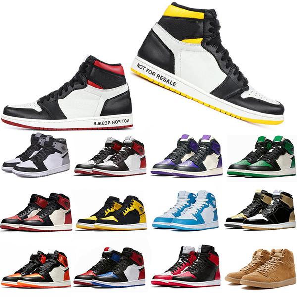 Cheaper New 1 1s Mens Basketball Shoes Not For Resale Red Yellow paris saint german Top 3 UNC Designer Sport Sneakers EUR 40-47