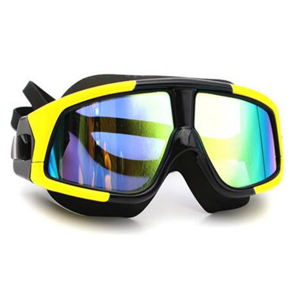 Силиконовая Большая Рамка Anti-Fog Защита от ультрафиолетовых лучей Плавательные очки Водонепроницаемые Плавательные очки прозрачные для мужчин, женщин Плавательная маска