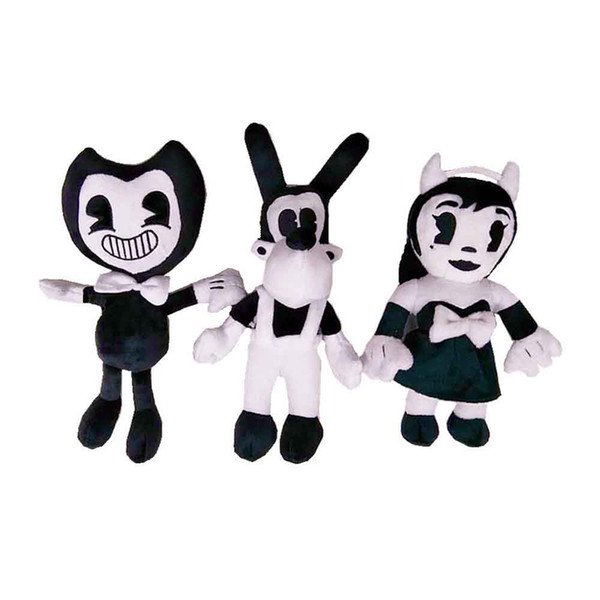 best selling New Game 27cm-30cm Bendy and the Ink Machine Girl and Dog Plush Doll Toys For Chidlren Best Christmas Gift