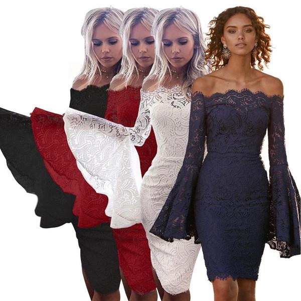 Neue Art- und Weisefrauen schnüren sich weg vom Schulter-langen Aufflackern-Hülsen-Beutel-Hüften-dünnen Kleid Neue Frauen-langen Aufflackern-Hülsen-Kleid