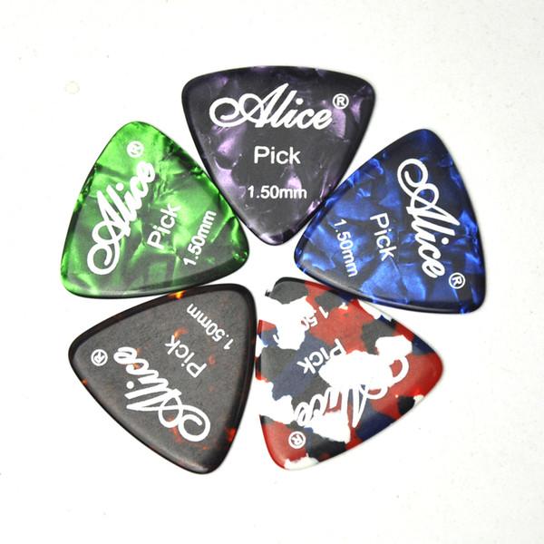 50 piezas Alice X-Heavy 1.5 mm celuloide redondeado triángulo guitarra Selecciones Plectrums