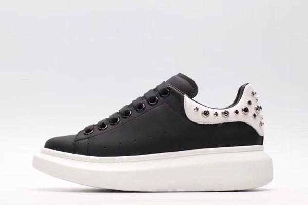 2019 новый роскошный повседневная обувь черный белый розовый золото дизайнер комфорт довольно мужская обувь повседневная кожаная обувь мужчины женщины кроссовки jx18062604