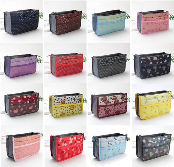 16 estilos Estilos de maquillaje Bolsas de aseo Bolsa de aseo Tidy Bolsas de almacenamiento de viaje Diversos Bolsos de teléfono Bolsas monederos de las mujeres