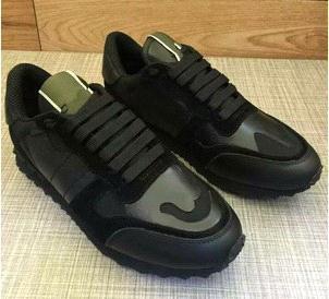 Boyutu 35-46 Kadınlar / Erkekler rahat ayakkabılar kamuflaj hakiki deri lace up çift yıldız ayakkabı unisex perçinler düz ayakkabı