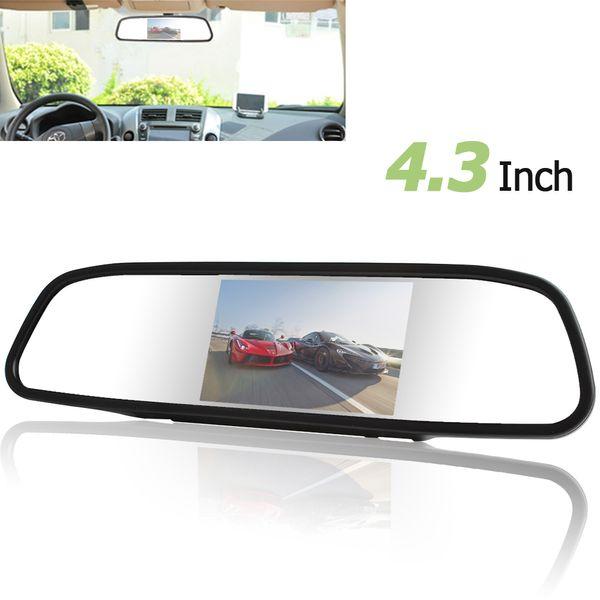 Freeshipping Car Mirror Monitor 4.3 inch Color Digital TFT-LCD Screen Car Rear View Mirror Monitor 480x272 Car Monitor