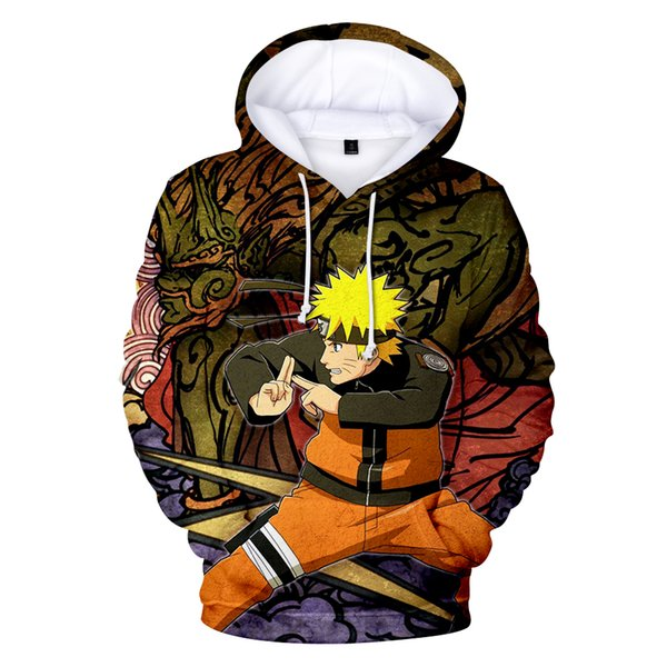 2019 Fashion Hot 3d Print Hoodies Men/women Naruto Hot Animation High Quality Harajuku 3d Naruto Men's Hoodies And Sweatshirt