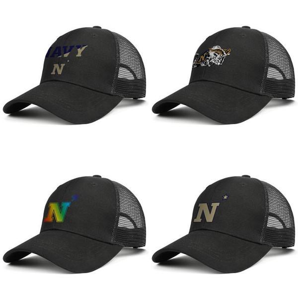Logo da calcio uomo Maryland Navy Midshipmen cappello a rete Cappello donna Classic Ventilazione marchio autista camionista Gay pride rainbow camouflage Oro bianco