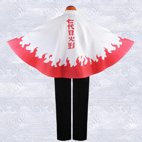 Costumes Halloween Party Roupa Naruto Uzumaki Cape Anime Naruto Boruto Cosplay Sétimo Hokage Cloak Costume Jacket