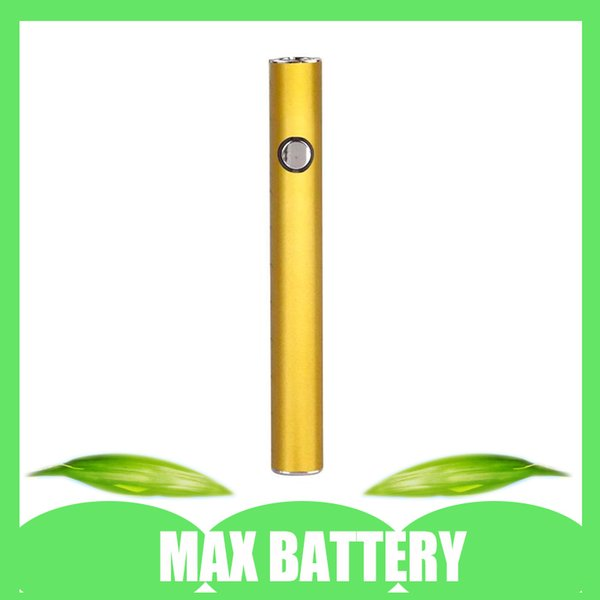 Batterie de préchauffage maximum originale 380mAh batterie 510 rechargeable de vape de tension variable pour la cartouche de vape avec l'emballage