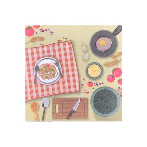 Creative kitchen design High quality clear color printed napkins Hotel dining mat paper kitchen paper towel The party