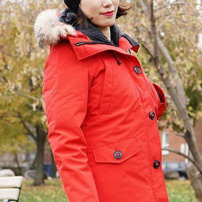 Fashion Winter Down Parkas Women Hooded Designer Short Jacket Thick Raccoon fur Outwear Female Coat Outdoor woman Warm Coats Cheap