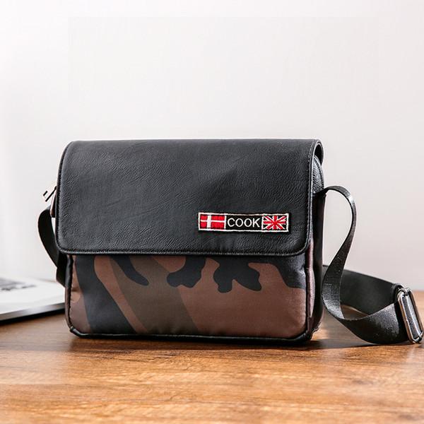 Корейская мужская мода на открытом воздухе сумка нового леопарда сумка