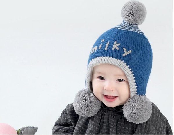 fashion Ins korean carton colorful cotton yarn knitted boy and girls kids hats handmade winter hats for 3-24M baby winter 5pcs/lot