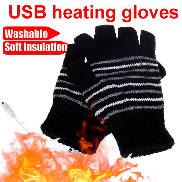 5V Knitted Heating Gloves Battery Powered for Heated Gloves Hunting Motocross Winter USB Motorbike Motorcycle