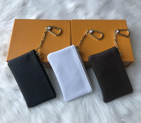 Free Shipping! 4 Colors Key Pouch Zip Wallet Coin Leather Wallets Women designer purse 62650