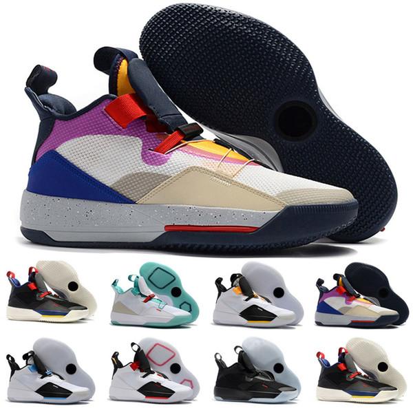 2019 Visible Utility Mens Scarpe da pallacanestro 33 Preparati a volare Sneakers Tech Pack retros Future Flight Sport Stivali 33s XXXIII Jade Trainers