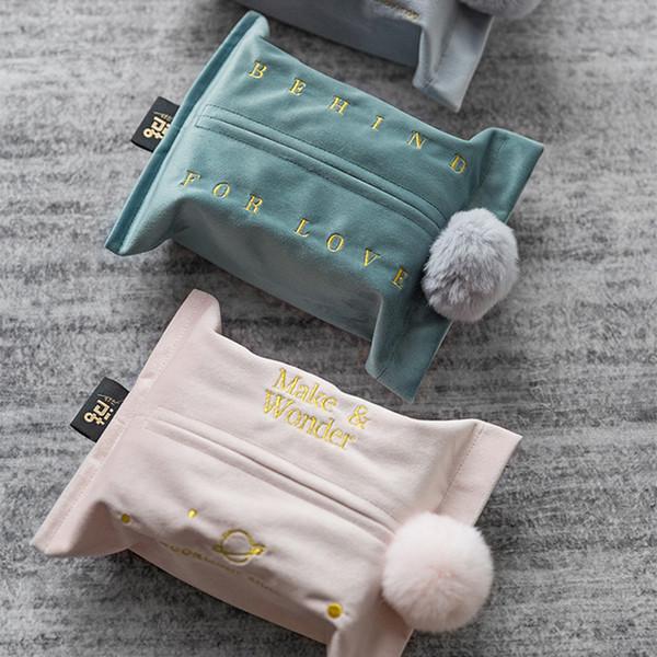 Мягкий бархат прямоугольные бумаги лицевой ткани Box Cover держатель розовый серый синий для ванной комнаты спальня комоды стол 24x18 см