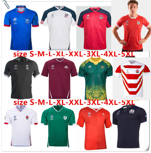 top popular TONGA HOME RUGBY WORLD CUP 2019 JERSEY SCOTLAND Georgia Rugby 19 20 Japan World Cup Australia Fiji Wales shirt Samoa rugby jersey Size S-5XL 2019
