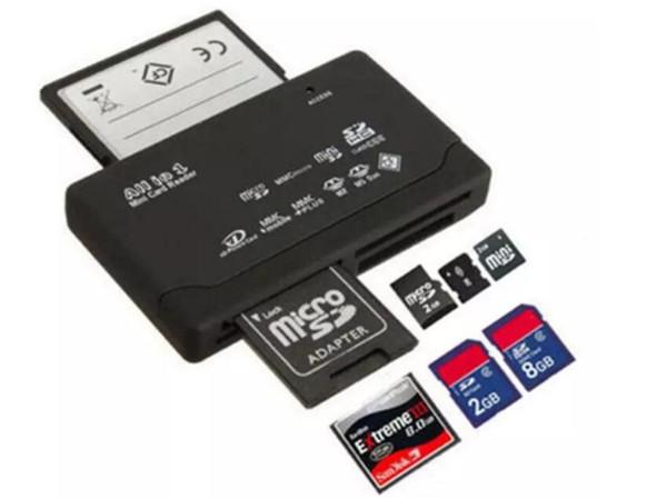 All In One Mini Memory Card Reader USB 2.0 Multi In 1 Universal External SD SDHC Mini Micro M2 MMC XD CF MS 2019