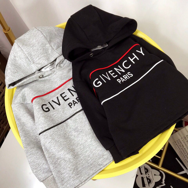 envío gratis 2019 Otoño Chica niños Ropa Moda Niños Sweatershirt Sudaderas con capucha Niños Suéter Algodón con capucha Top