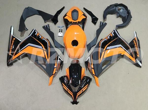 OEM qualität neue abs motorrad verkleidungen kit fit für kawasaki ninja 300 ex300 ninja300 2013 2014 2015 13 14 15 hinzufügen tankdeckel orange schwarz