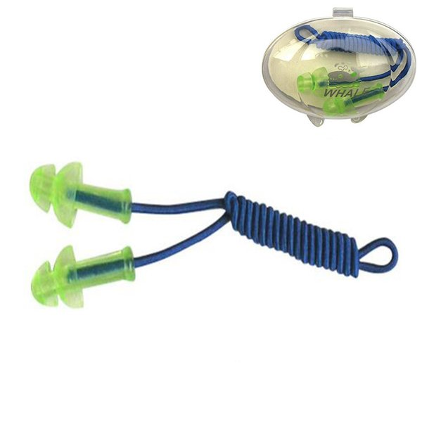 Waterproof Swimming Siamese Earplugs Professional Silicone Swim Earplugs Adult Swimmers Children Diving Soft Anti-Noise Ear Plug